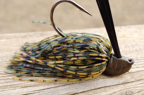 DepthCharge Flippin' Jig - Spiced Melon - T&T Tackle, Depth Charge Flippin' Jig  Bass Jigs, Spinner Baits, Swim Jigs, Buzzbaits, Custom, Rod Sleeves, Fish Scent, Bass Tackle, Trapper Hooks, Swing Jigs, Wobble Heads, Bass Tackle, Apparel, Fishing Line, Bass Braid, Fluorocarbon