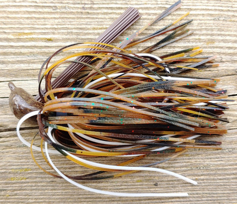 Depth Charge Skippin' Jig - Missouri Craw - T&T Tackle, DepthCharge Skippin' Jig  Bass Jigs, Spinner Baits, Swim Jigs, Buzzbaits, Custom, Rod Sleeves, Fish Scent, Bass Tackle, Trapper Hooks, Swing Jigs, Wobble Heads, Bass Tackle, Apparel, Fishing Line, Bass Braid, Fluorocarbon