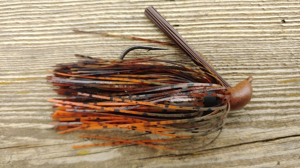 DepthCharge Skippin' Jig - Perfect Craw - T&T Tackle, DepthCharge Skippin' Jig  Bass Jigs, Spinner Baits, Swim Jigs, Buzzbaits, Custom, Rod Sleeves, Fish Scent, Bass Tackle, Trapper Hooks, Swing Jigs, Wobble Heads, Bass Tackle, Apparel, Fishing Line, Bass Braid, Fluorocarbon