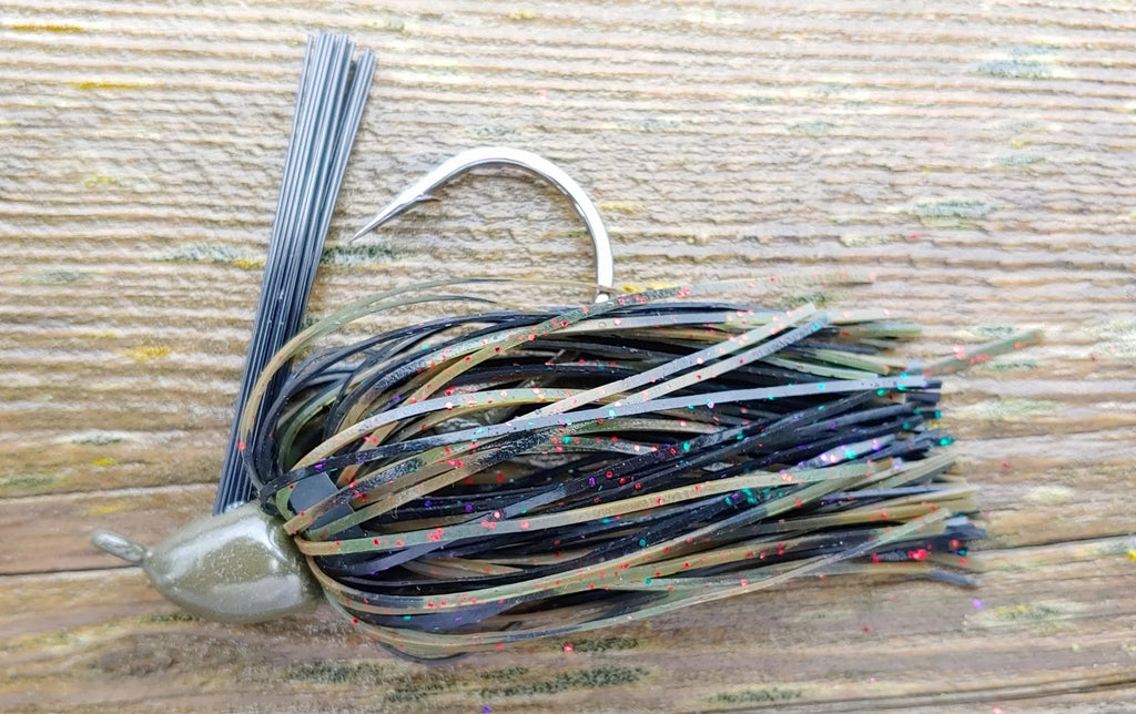 DepthCharge Finesse Jig - Spicy Avocado - T&T Tackle, DepthCharge Finesse Jigs  Bass Jigs, Spinner Baits, Swim Jigs, Buzzbaits, Custom, Rod Sleeves, Fish Scent, Bass Tackle, Trapper Hooks, Swing Jigs, Wobble Heads, Bass Tackle, Apparel, Fishing Line, Bass Braid, Fluorocarbon