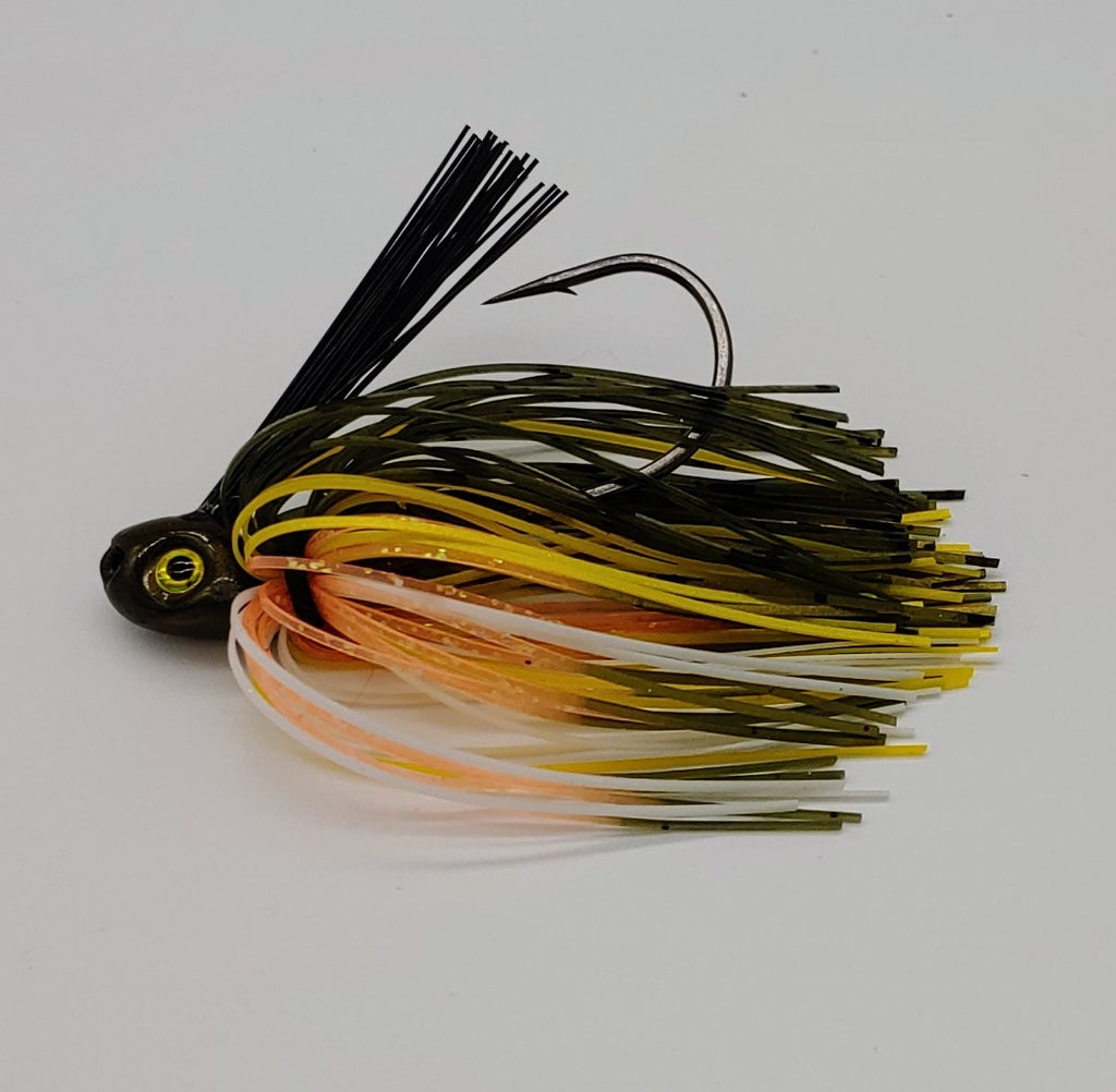 C-4 Swim Jig - Perch - T&T Tackle, C-4 Swim Jigs  Bass Jigs, Spinner Baits, Swim Jigs, Buzzbaits, Custom, Rod Sleeves, Fish Scent, Bass Tackle, Trapper Hooks, Swing Jigs, Wobble Heads, Bass Tackle, Apparel, Fishing Line, Bass Braid, Fluorocarbon