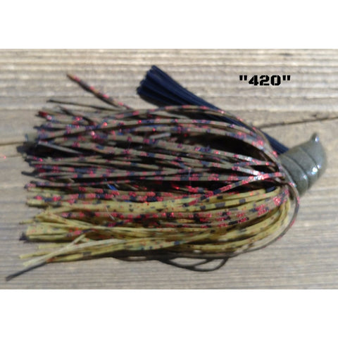 DepthCharge Flippin' Jig - 420 - T&T Tackle, Depth Charge Flippin' Jig  Bass Jigs, Spinner Baits, Swim Jigs, Buzzbaits, Custom, Rod Sleeves, Fish Scent, Bass Tackle, Trapper Hooks, Swing Jigs, Wobble Heads, Bass Tackle, Apparel, Fishing Line, Bass Braid, Fluorocarbon