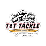 T&T Tackle - Kiss-Cut Stickers - T&T Tackle, Paper products  Bass Jigs, Spinner Baits, Swim Jigs, Buzzbaits, Custom, Rod Sleeves, Fish Scent, Bass Tackle, Trapper Hooks, Swing Jigs, Wobble Heads, Bass Tackle, Apparel, Fishing Line, Bass Braid, Fluorocarbon