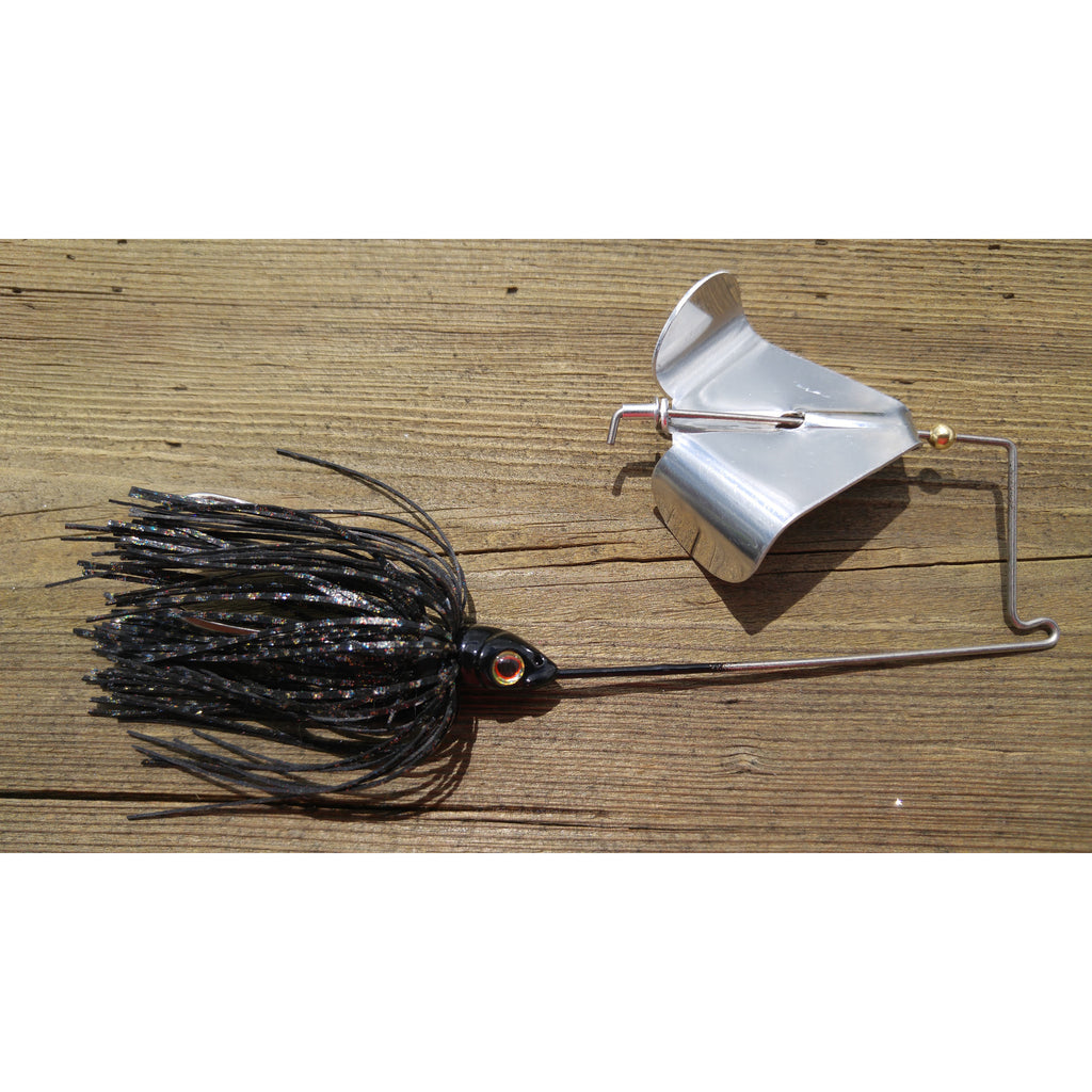 CrossFire Buzzbait - Black - T&T Tackle, CrossFire Buzzbaits  Bass Jigs, Spinner Baits, Swim Jigs, Buzzbaits, Custom, Rod Sleeves, Fish Scent, Bass Tackle, Trapper Hooks, Swing Jigs, Wobble Heads, Bass Tackle, Apparel, Fishing Line, Bass Braid, Fluorocarbon