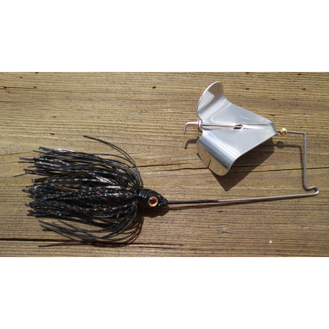 CrossFire Buzzbait - Black - T&T Tackle, CrossFire Buzzbaits  Bass Jigs, Spinner Baits, Swim Jigs, Buzzbaits, Custom, Rod Sleeves, Fish Scent, Bass Tackle, Trapper Hooks, Swing Jigs, Wobble Heads