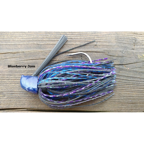 Blueberry Jam - T&T Tackle, Depth Charge Flippin' Jig  Bass Jigs, Spinner Baits, Swim Jigs, Buzzbaits, Custom, Rod Sleeves, Fish Scent, Bass Tackle, Trapper Hooks, Swing Jigs, Wobble Heads
