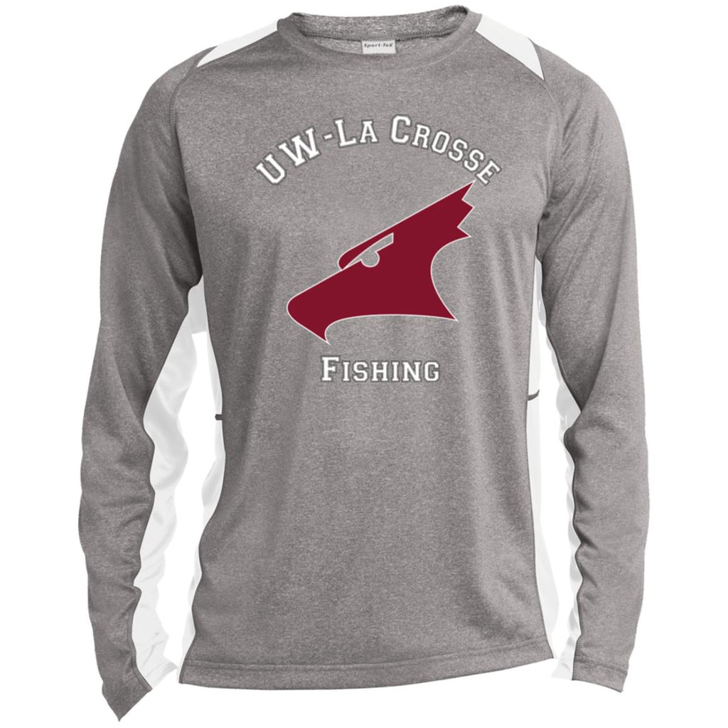 UW-La Crosse Long Sleeve Heather Colorblock Poly T-Shirt - T&T Tackle