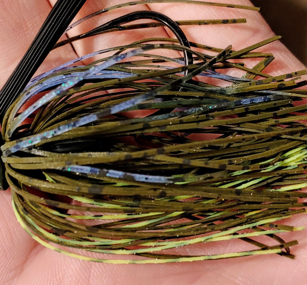 C-4 Swim Jig - Electric Gill - T&T Tackle, C-4 Swim Jigs  Bass Jigs, Spinner Baits, Swim Jigs, Buzzbaits, Custom, Rod Sleeves, Fish Scent, Bass Tackle, Trapper Hooks, Swing Jigs, Wobble Heads, Bass Tackle, Apparel, Fishing Line, Bass Braid, Fluorocarbon