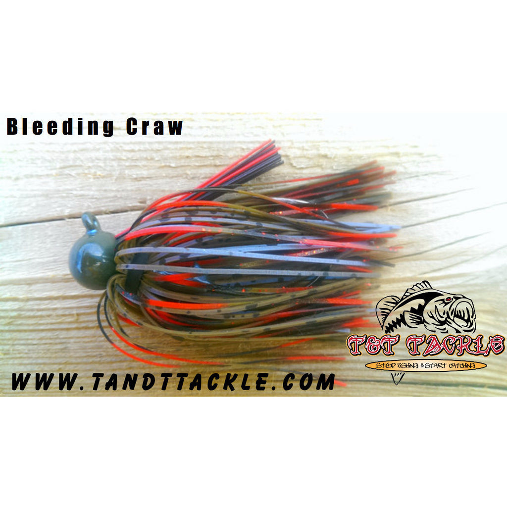 BackDraft Football Jig - Bleeding Craw - T&T Tackle