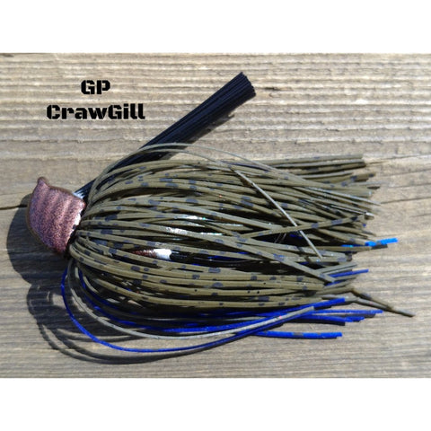 DepthCharge Flippin' Jig - GP CrawGill - T&T Tackle, Depth Charge Flippin' Jig  Bass Jigs, Spinner Baits, Swim Jigs, Buzzbaits, Custom, Rod Sleeves, Fish Scent, Bass Tackle, Trapper Hooks, Swing Jigs, Wobble Heads, Bass Tackle, Apparel, Fishing Line, Bass Braid, Fluorocarbon