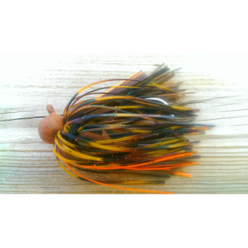 BackDraft Football Jig - Christmas Craw - T&T Tackle, BackDraft Football Jigs  Bass Jigs, Spinner Baits, Swim Jigs, Buzzbaits, Custom, Rod Sleeves, Fish Scent, Bass Tackle, Trapper Hooks, Swing Jigs, Wobble Heads, Bass Tackle, Apparel, Fishing Line, Bass Braid, Fluorocarbon