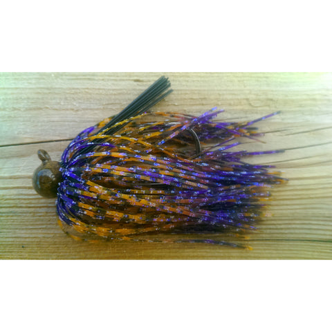 BackDraft Football Jigs - PB & Jelly Time - T&T Tackle, BackDraft Football Jigs  Bass Jigs, Spinner Baits, Swim Jigs, Buzzbaits, Custom, Rod Sleeves, Fish Scent, Bass Tackle, Trapper Hooks, Swing Jigs, Wobble Heads, Bass Tackle, Apparel, Fishing Line, Bass Braid, Fluorocarbon