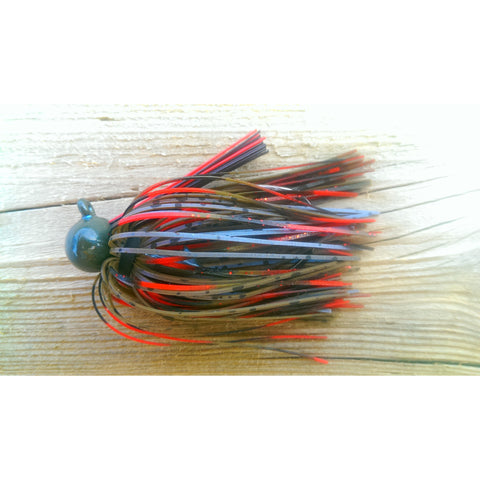 BackDraft Football Jig - Bleeding Craw - T&T Tackle, BackDraft Football Jigs  Bass Jigs, Spinner Baits, Swim Jigs, Buzzbaits, Custom, Rod Sleeves, Fish Scent, Bass Tackle, Trapper Hooks, Swing Jigs, Wobble Heads, Bass Tackle, Apparel, Fishing Line, Bass Braid, Fluorocarbon