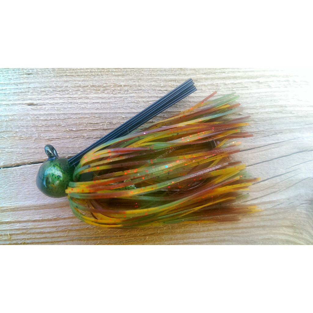 BackDraft Football Jig - Tex Mex - T&T Tackle, BackDraft Football Jigs  Bass Jigs, Spinner Baits, Swim Jigs, Buzzbaits, Custom, Rod Sleeves, Fish Scent, Bass Tackle, Trapper Hooks, Swing Jigs, Wobble Heads, Bass Tackle, Apparel, Fishing Line, Bass Braid, Fluorocarbon