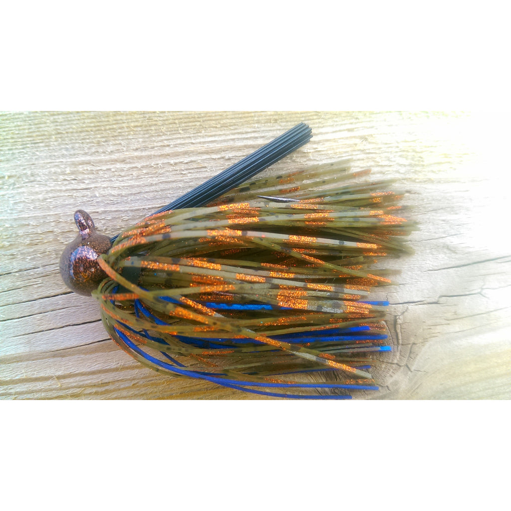 Copper Craw - T&T Tackle, BackDraft Football Jigs  Bass Jigs, Spinner Baits, Swim Jigs, Buzzbaits, Custom, Rod Sleeves, Fish Scent, Bass Tackle, Trapper Hooks, Swing Jigs, Wobble Heads