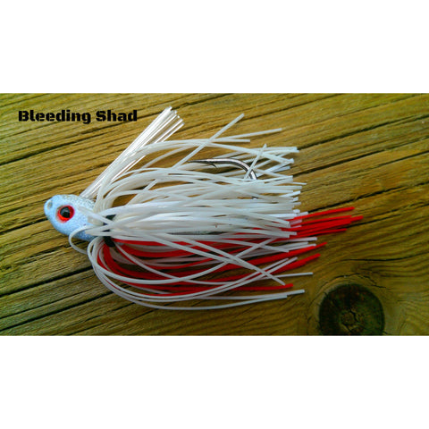 C-4 Swim Jig - Bleeding Shad - T&T Tackle, C-4 Swim Jigs  Bass Jigs, Spinner Baits, Swim Jigs, Buzzbaits, Custom, Rod Sleeves, Fish Scent, Bass Tackle, Trapper Hooks, Swing Jigs, Wobble Heads, Bass Tackle, Apparel, Fishing Line, Bass Braid, Fluorocarbon