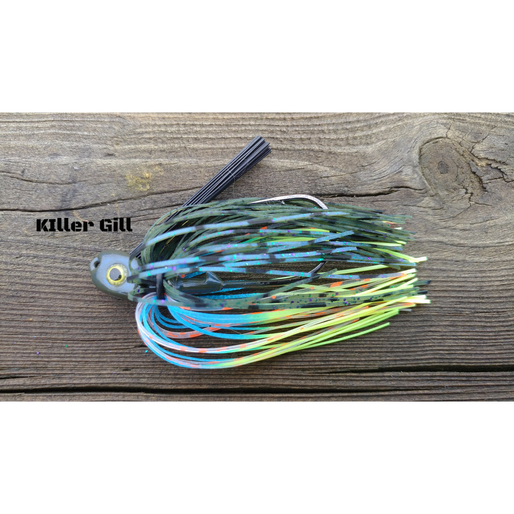 Killer Gill - T&T Tackle, C-4 Swim Jigs  Bass Jigs, Spinner Baits, Swim Jigs, Buzzbaits, Custom, Rod Sleeves, Fish Scent, Bass Tackle, Trapper Hooks, Swing Jigs, Wobble Heads