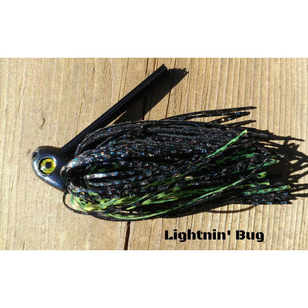 C-4 Swim Jig - Lightnin' Bug - T&T Tackle, C-4 Swim Jigs  Bass Jigs, Spinner Baits, Swim Jigs, Buzzbaits, Custom, Rod Sleeves, Fish Scent, Bass Tackle, Trapper Hooks, Swing Jigs, Wobble Heads, Bass Tackle, Apparel, Fishing Line, Bass Braid, Fluorocarbon