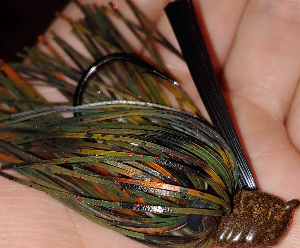 DepthCharge Flippin' Jig - Mud Bug - T&T Tackle, Depth Charge Flippin' Jig  Bass Jigs, Spinner Baits, Swim Jigs, Buzzbaits, Custom, Rod Sleeves, Fish Scent, Bass Tackle, Trapper Hooks, Swing Jigs, Wobble Heads, Bass Tackle, Apparel, Fishing Line, Bass Braid, Fluorocarbon