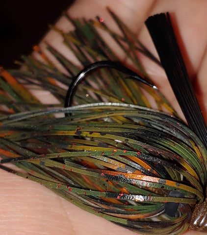 DepthCharge Skippin' Jig -  Mud Bug - T&T Tackle, DepthCharge Skippin' Jig  Bass Jigs, Spinner Baits, Swim Jigs, Buzzbaits, Custom, Rod Sleeves, Fish Scent, Bass Tackle, Trapper Hooks, Swing Jigs, Wobble Heads, Bass Tackle, Apparel, Fishing Line, Bass Braid, Fluorocarbon