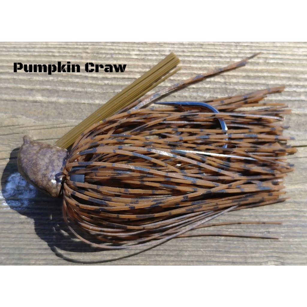 DepthCharge Flippin' Jig - Pumpkin Craw - T&T Tackle, Depth Charge Flippin' Jig  Bass Jigs, Spinner Baits, Swim Jigs, Buzzbaits, Custom, Rod Sleeves, Fish Scent, Bass Tackle, Trapper Hooks, Swing Jigs, Wobble Heads, Bass Tackle, Apparel, Fishing Line, Bass Braid, Fluorocarbon