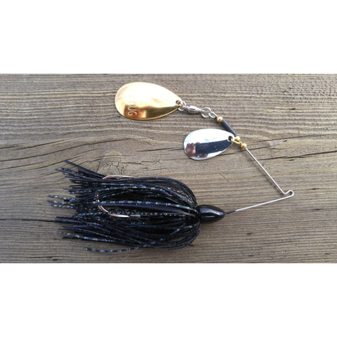 CrossFire Spinnerbait - Black - T&T Tackle, CrossFire Spinnerbaits  Bass Jigs, Spinner Baits, Swim Jigs, Buzzbaits, Custom, Rod Sleeves, Fish Scent, Bass Tackle, Trapper Hooks, Swing Jigs, Wobble Heads, Bass Tackle, Apparel, Fishing Line, Bass Braid, Fluorocarbon