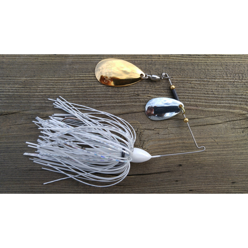 CrossFire Spinnerbait - White - T&T Tackle, CrossFire Spinnerbaits  Bass Jigs, Spinner Baits, Swim Jigs, Buzzbaits, Custom, Rod Sleeves, Fish Scent, Bass Tackle, Trapper Hooks, Swing Jigs, Wobble Heads