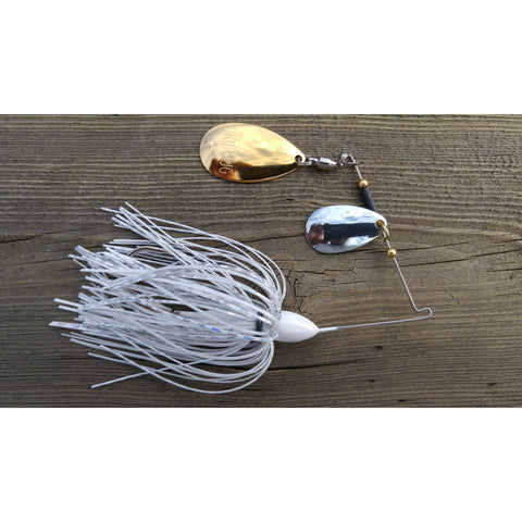 CrossFire Spinnerbait - White - T&T Tackle, CrossFire Spinnerbaits  Bass Jigs, Spinner Baits, Swim Jigs, Buzzbaits, Custom, Rod Sleeves, Fish Scent, Bass Tackle, Trapper Hooks, Swing Jigs, Wobble Heads, Bass Tackle, Apparel, Fishing Line, Bass Braid, Fluorocarbon