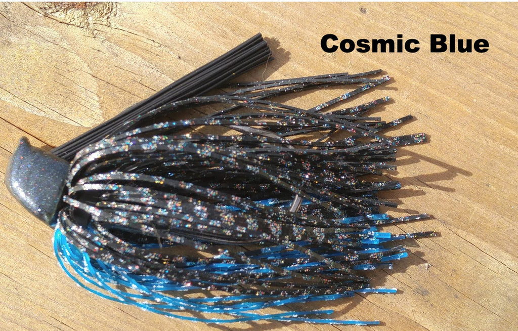 Cosmic Blue - T&T Tackle, Depth Charge Flippin' Jig  Bass Jigs, Spinner Baits, Swim Jigs, Buzzbaits, Custom, Rod Sleeves, Fish Scent, Bass Tackle, Trapper Hooks, Swing Jigs, Wobble Heads