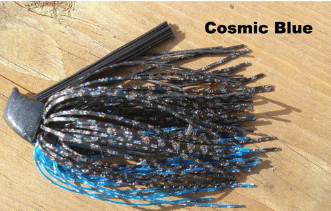 DepthCharge Flippin' Jig - Cosmic Blue - T&T Tackle, Depth Charge Flippin' Jig  Bass Jigs, Spinner Baits, Swim Jigs, Buzzbaits, Custom, Rod Sleeves, Fish Scent, Bass Tackle, Trapper Hooks, Swing Jigs, Wobble Heads, Bass Tackle, Apparel, Fishing Line, Bass Braid, Fluorocarbon