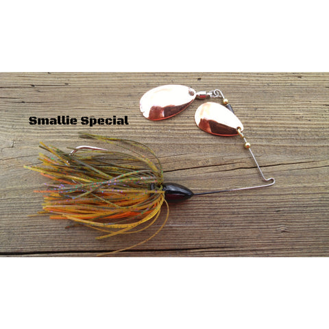 CrossFire Spinnerbait - Smallie Special - T&T Tackle, CrossFire Spinnerbaits  Bass Jigs, Spinner Baits, Swim Jigs, Buzzbaits, Custom, Rod Sleeves, Fish Scent, Bass Tackle, Trapper Hooks, Swing Jigs, Wobble Heads