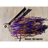 Sour Grapes - T&T Tackle, C-4 Swim Jigs  Bass Jigs, Spinner Baits, Swim Jigs, Buzzbaits, Custom, Rod Sleeves, Fish Scent, Bass Tackle, Trapper Hooks, Swing Jigs, Wobble Heads