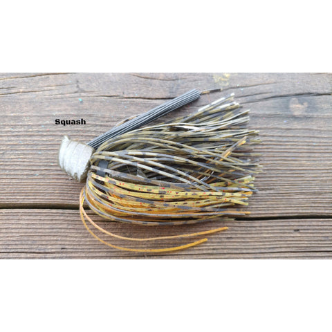 Squash - T&T Tackle, Depth Charge Flippin' Jig  Bass Jigs, Spinner Baits, Swim Jigs, Buzzbaits, Custom, Rod Sleeves, Fish Scent, Bass Tackle, Trapper Hooks, Swing Jigs, Wobble Heads