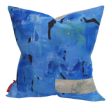 Cerulean - Hand Painted By Patrick Vail; Linen-Cotton Pillow 13x20 or 20x20