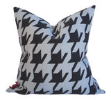 Houndstooth Print by Holli Zollinger; Linen-Cotton Pillow 20x20