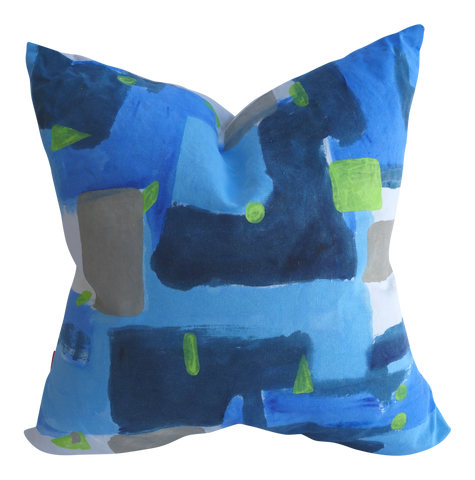 Tidepool - Hand Painted By Patrick Vail; Linen-Cotton Pillow 13x20 or 20x20