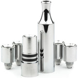 Chrome Full Metal Hitter with 4 Replacement Cartridges