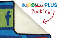 value plus rug backing