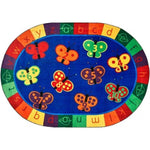 123 ABC Butterfly Factory Second Oval Rug