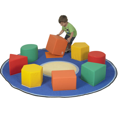 Shape Sorter Seats and Educational Rug