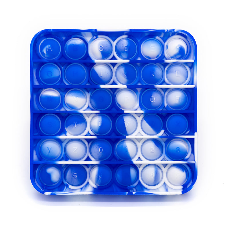 blue white circle square bubble pop set