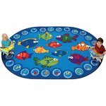 Fishing for Literacy Oval Rug - Carpets for Kids