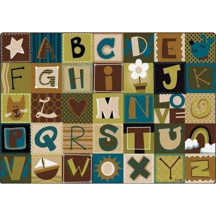 Natures Colors Alphabet Blocks Factory Second Rug