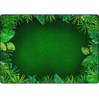 Rainforest Leafy Border Rug