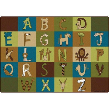 A to Z Animals Nature Colors Rug