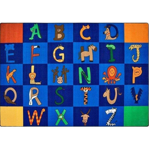 A to Z Animals Seating Rug