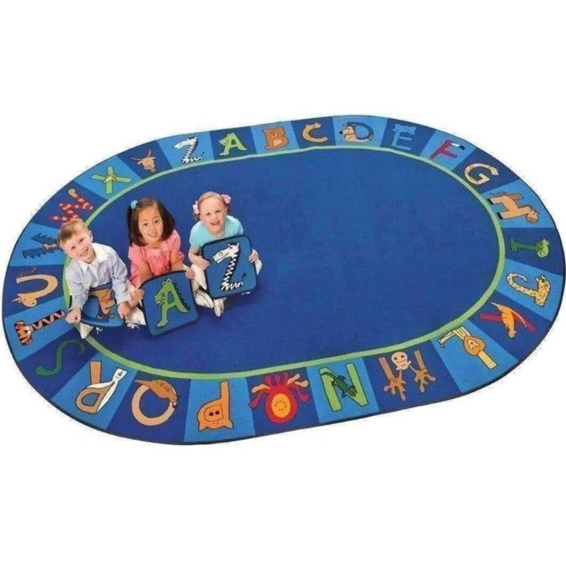 A - Z Animal Factory Second Rug Oval