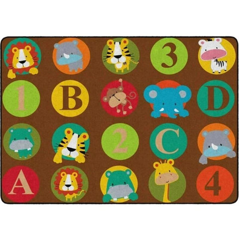 ABC & 123 Baby Animals Rug