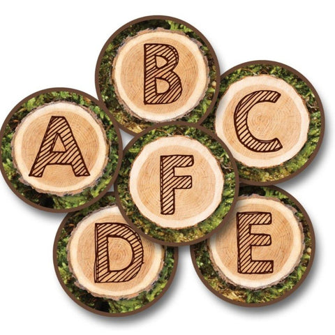 ABC Tree Rounds Rug Kit Set of 26