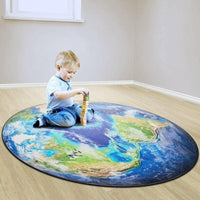 All Around the World Round Rug